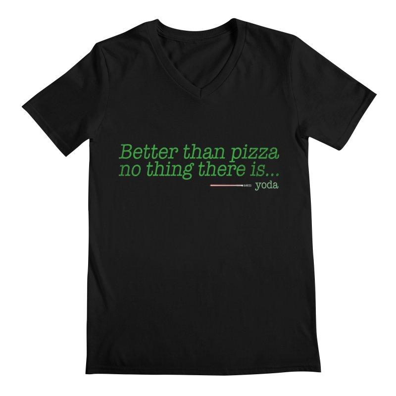 eat pizza you must Men's V-Neck by kharmazero's Artist Shop