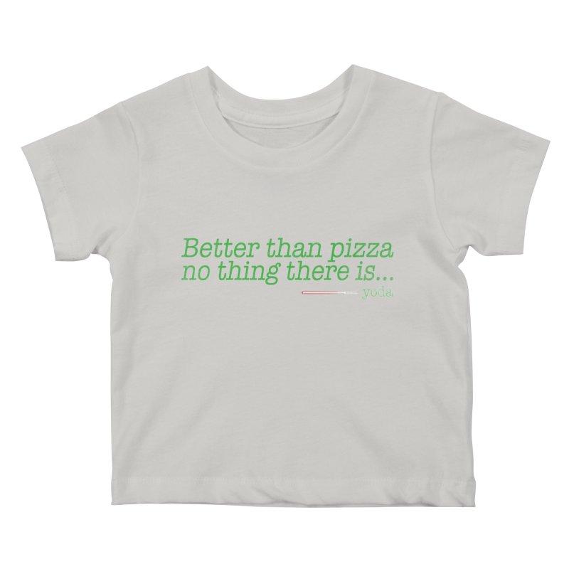 eat pizza you must Kids Baby T-Shirt by kharmazero's Artist Shop