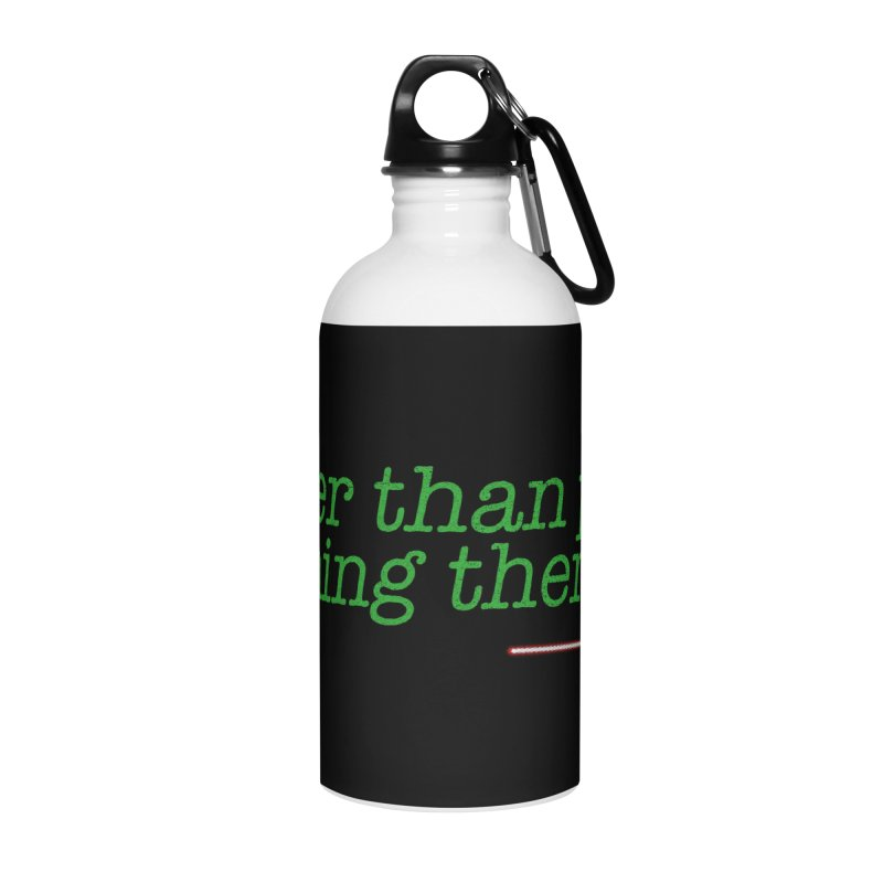 eat pizza you must Accessories Water Bottle by kharmazero's Artist Shop