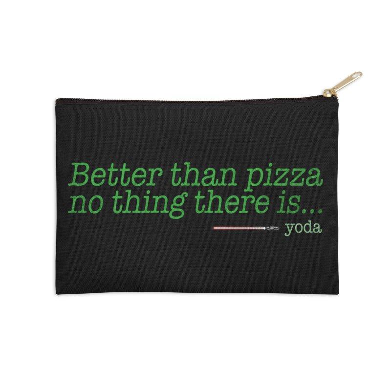 eat pizza you must Accessories Zip Pouch by kharmazero's Artist Shop