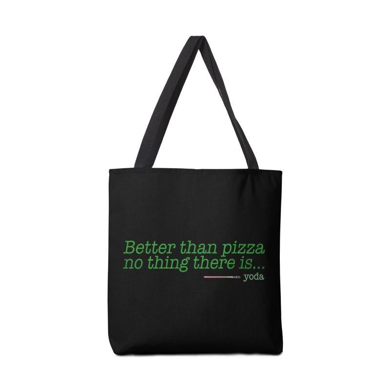 eat pizza you must Accessories Bag by kharmazero's Artist Shop