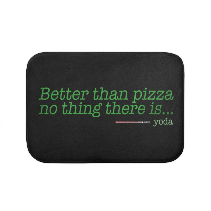 eat pizza you must Home Bath Mat by kharmazero's Artist Shop