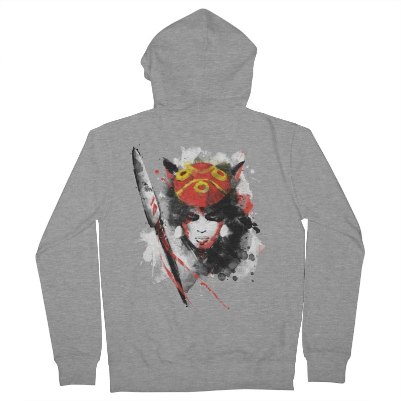 red princess Men's Zip-Up Hoody by kharmazero's Artist Shop