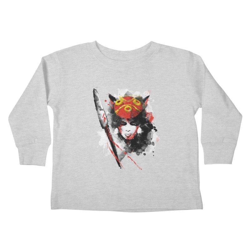 red princess Kids Toddler Longsleeve T-Shirt by kharmazero's Artist Shop
