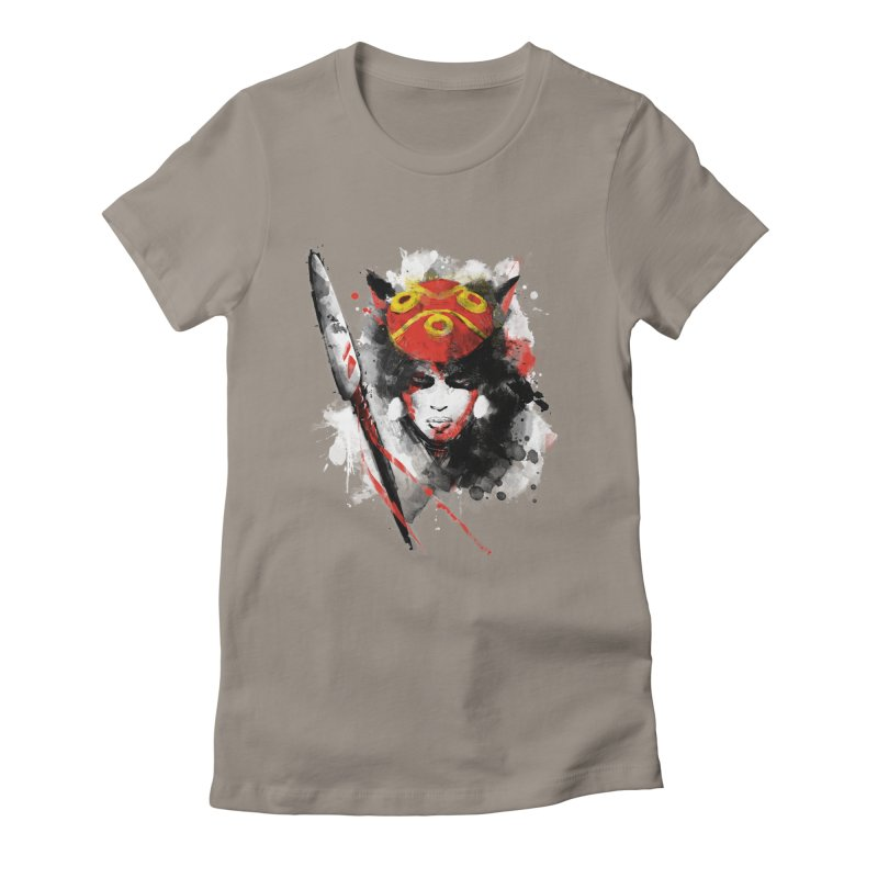 red princess Women's Fitted T-Shirt by kharmazero's Artist Shop