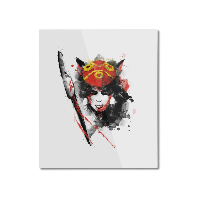red princess Home Mounted Aluminum Print by kharmazero's Artist Shop