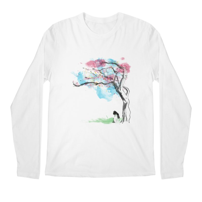 sakura delicious Men's Longsleeve T-Shirt by kharmazero's Artist Shop