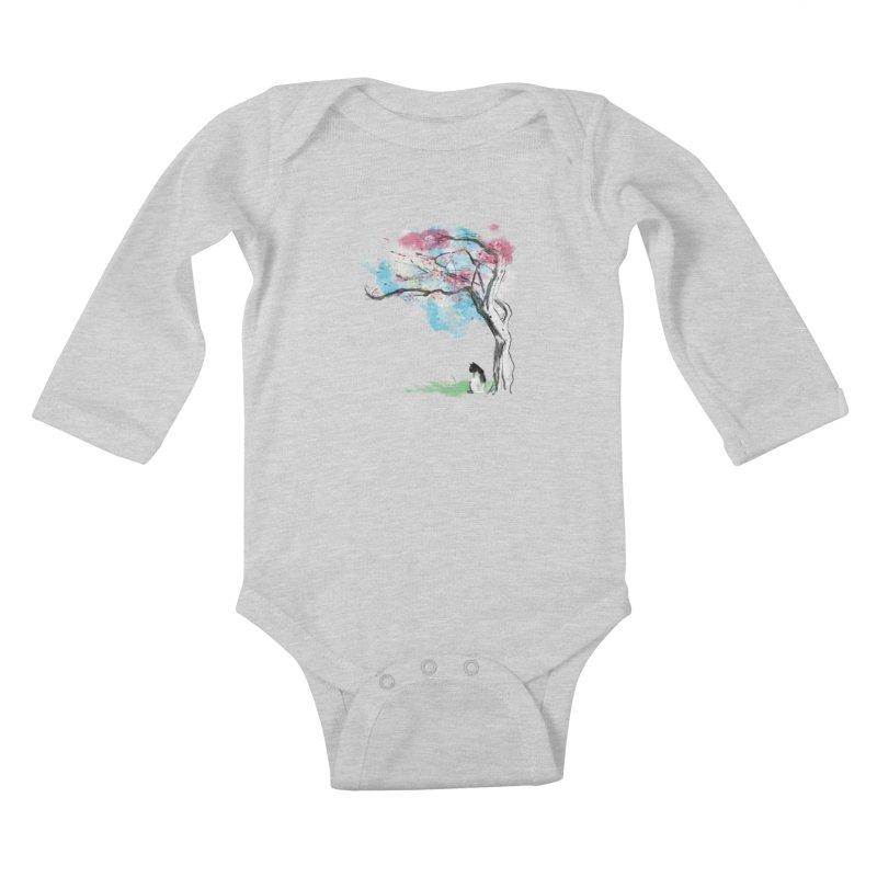 sakura delicious Kids Baby Longsleeve Bodysuit by kharmazero's Artist Shop