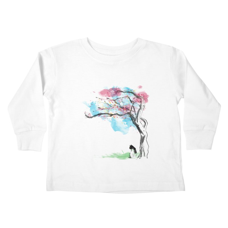 sakura delicious Kids Toddler Longsleeve T-Shirt by kharmazero's Artist Shop