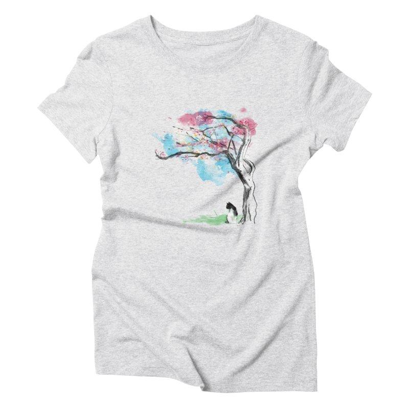 sakura delicious Women's Triblend T-Shirt by kharmazero's Artist Shop