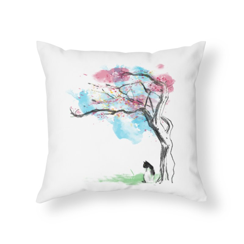 sakura delicious Home Throw Pillow by kharmazero's Artist Shop
