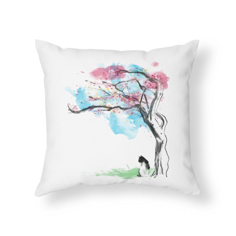 sakura delicious Home Throw Pillow by kharmazero's Artist Shop