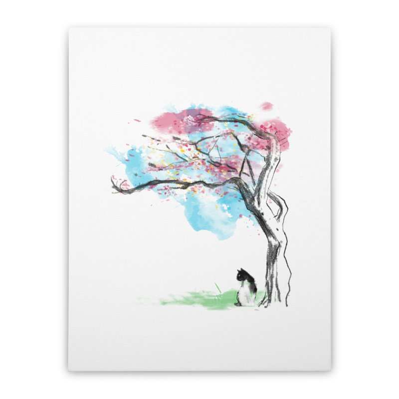 sakura delicious Home Stretched Canvas by kharmazero's Artist Shop