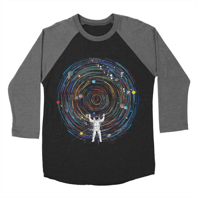 space dj Men's Baseball Triblend T-Shirt by kharmazero's Artist Shop