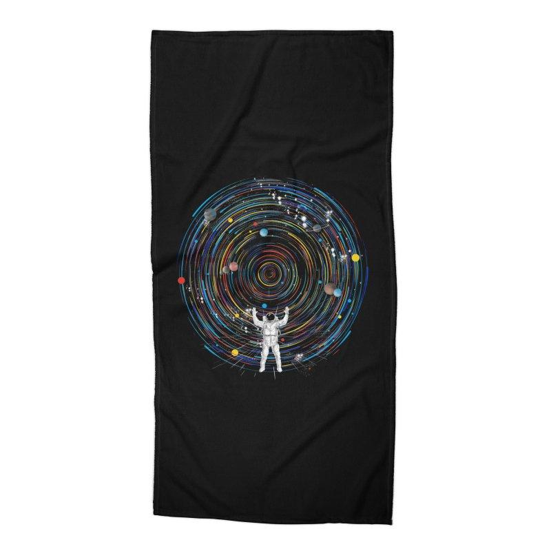 space dj Accessories Beach Towel by kharmazero's Artist Shop