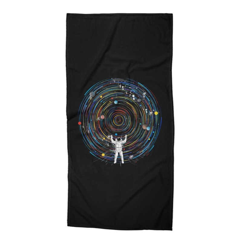 space dj Accessories Beach Towel by kharmazero's Artist Shop