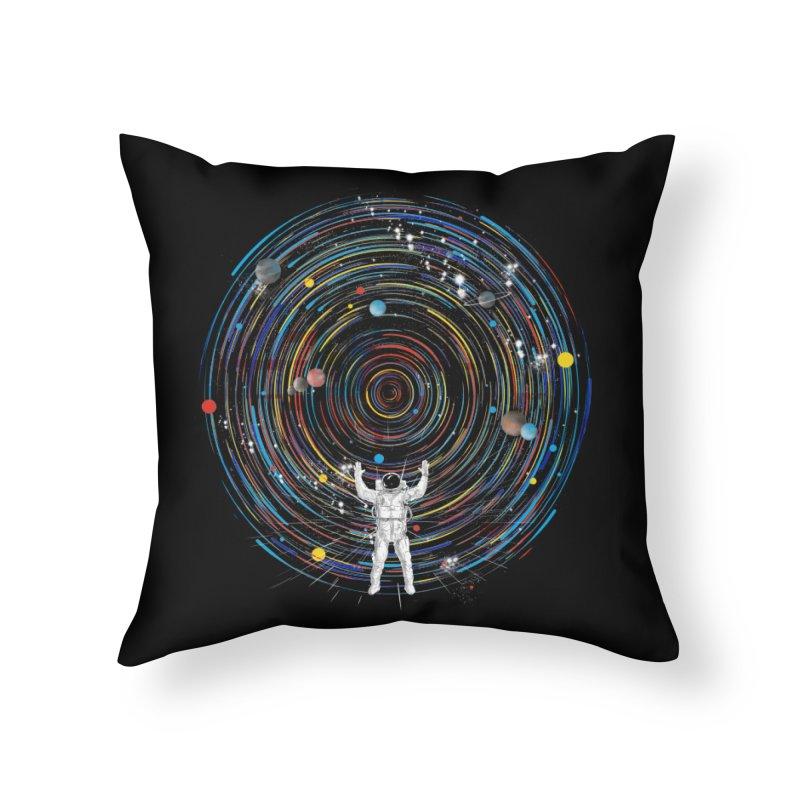 space dj Home Throw Pillow by kharmazero's Artist Shop