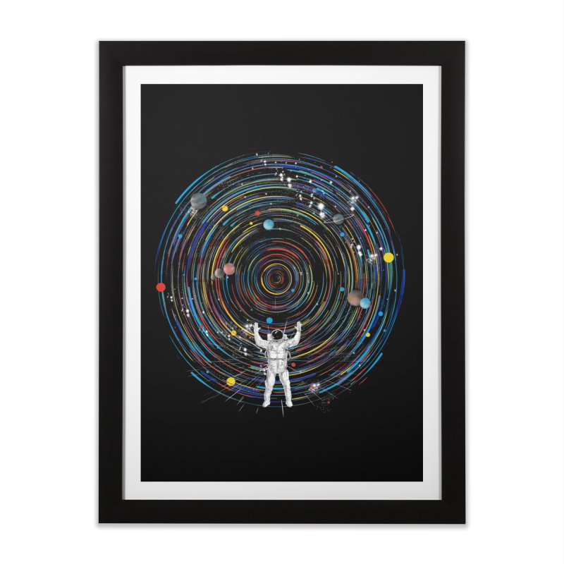 space dj Home Framed Fine Art Print by kharmazero's Artist Shop