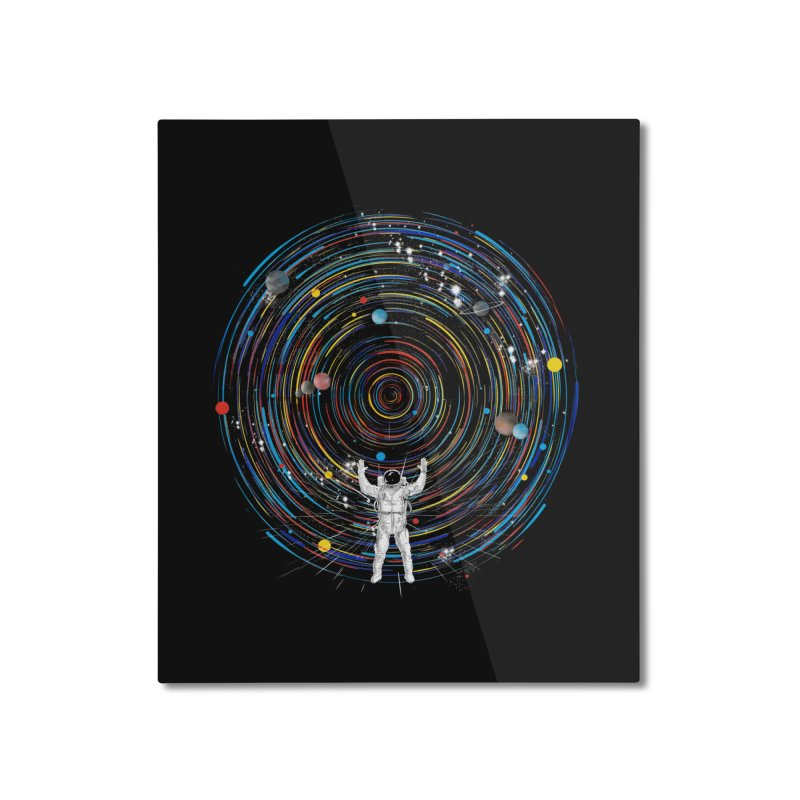 space dj Home Mounted Aluminum Print by kharmazero's Artist Shop