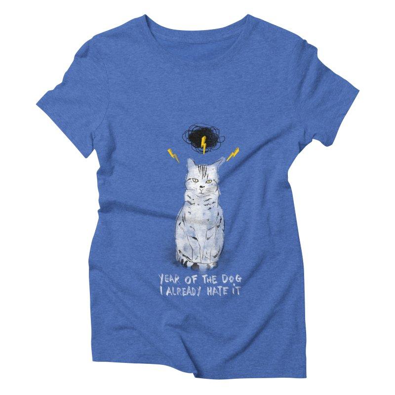 the hater Women's Triblend T-Shirt by kharmazero's Artist Shop