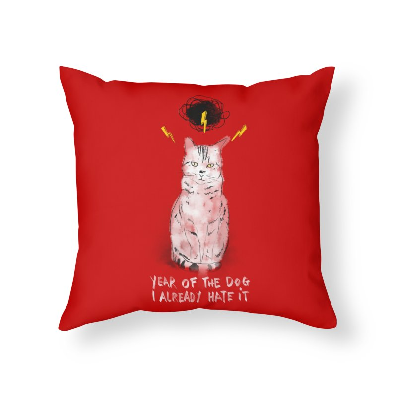 the hater Home Throw Pillow by kharmazero's Artist Shop