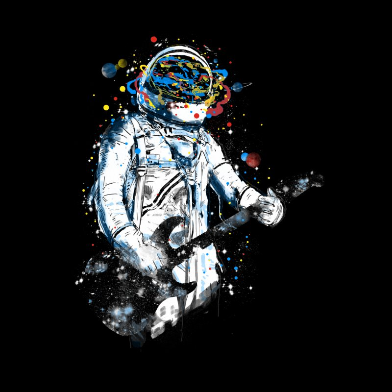 space guitar Home Fine Art Print by kharmazero's Artist Shop