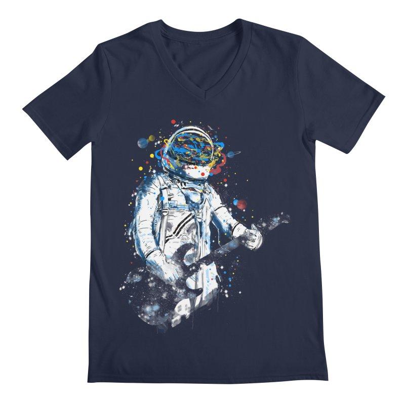 space guitar Men's V-Neck by kharmazero's Artist Shop