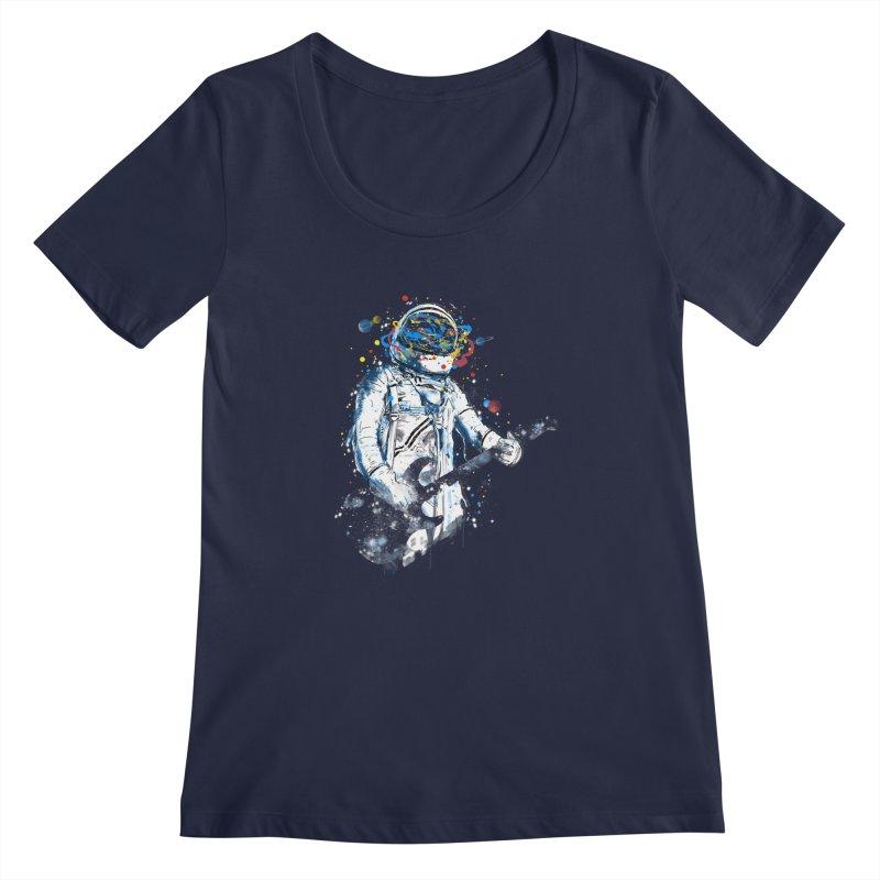 space guitar Women's Scoopneck by kharmazero's Artist Shop
