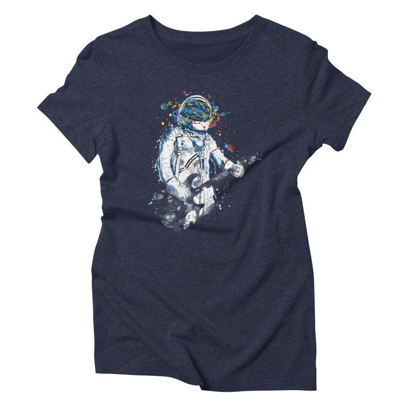space guitar Women's Triblend T-Shirt by kharmazero's Artist Shop