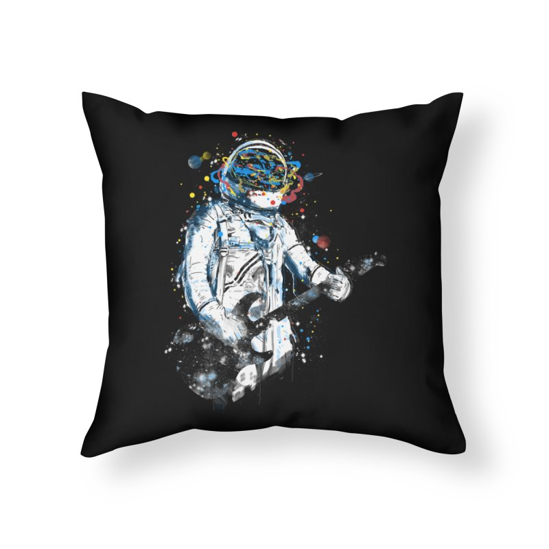 space guitar Home Throw Pillow by kharmazero's Artist Shop