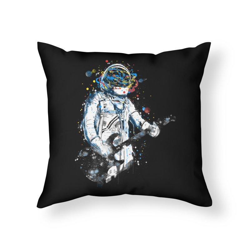 space guitar Home Throw Pillow by kharmazero's Artist Shop
