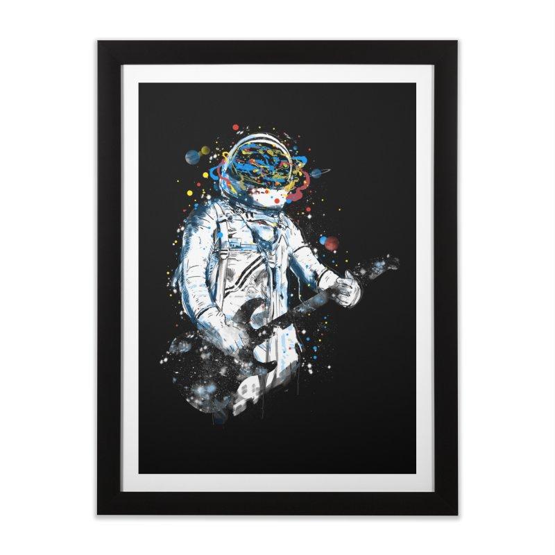 space guitar Home Framed Fine Art Print by kharmazero's Artist Shop