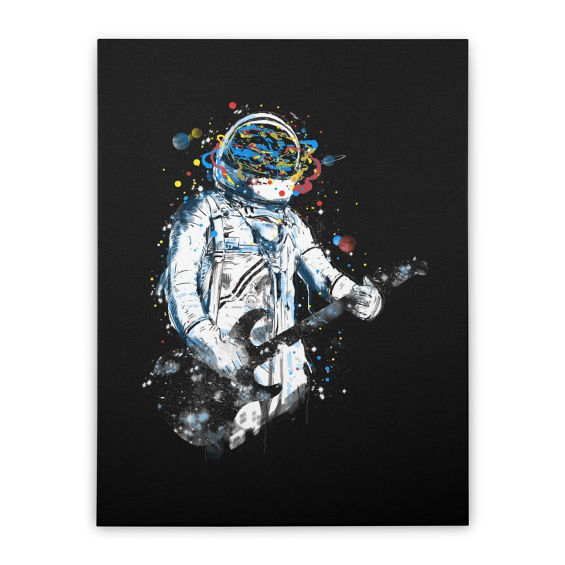 space guitar Home Stretched Canvas by kharmazero's Artist Shop