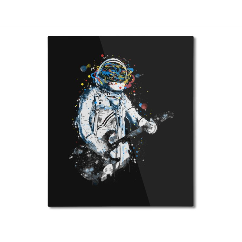 space guitar Home Mounted Aluminum Print by kharmazero's Artist Shop