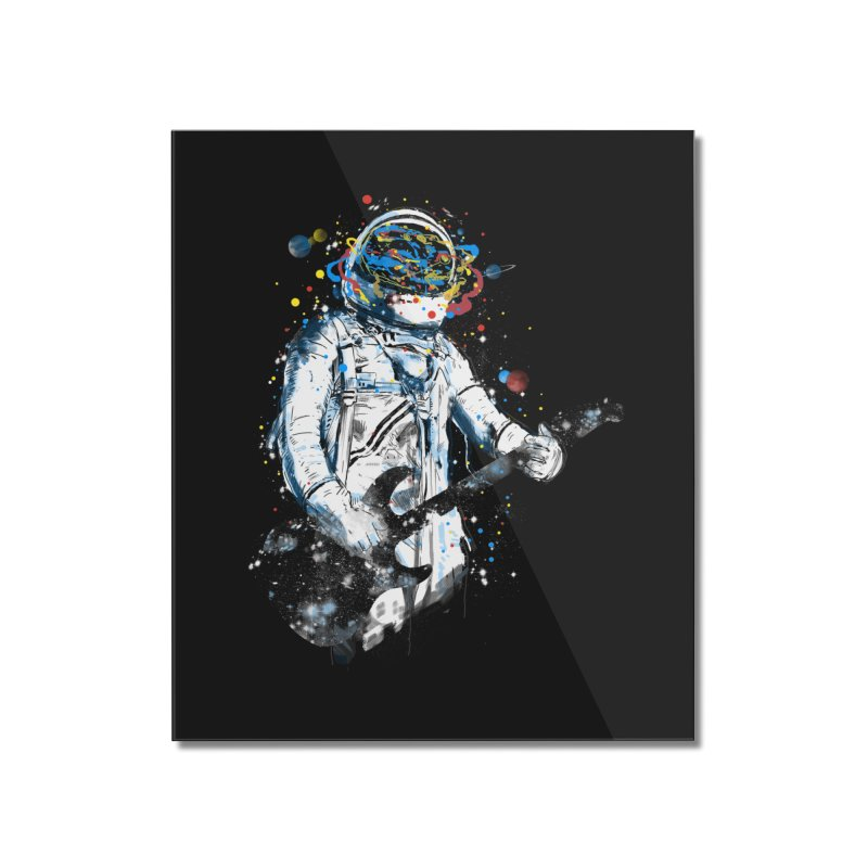 space guitar Home Mounted Acrylic Print by kharmazero's Artist Shop