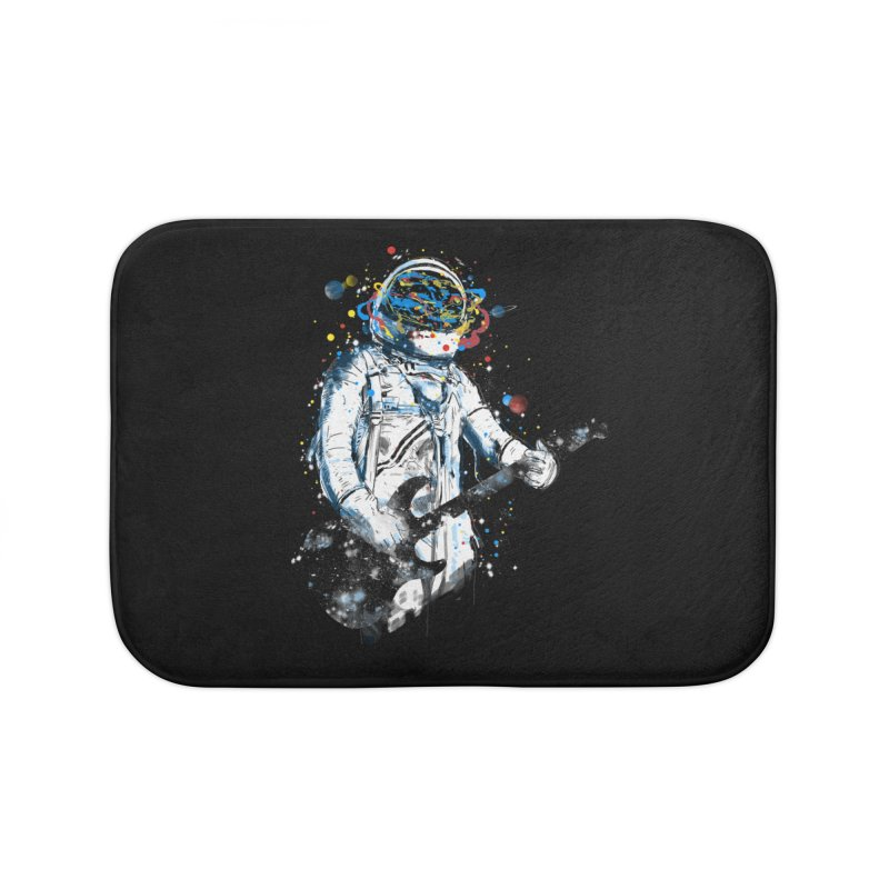 space guitar Home Bath Mat by kharmazero's Artist Shop