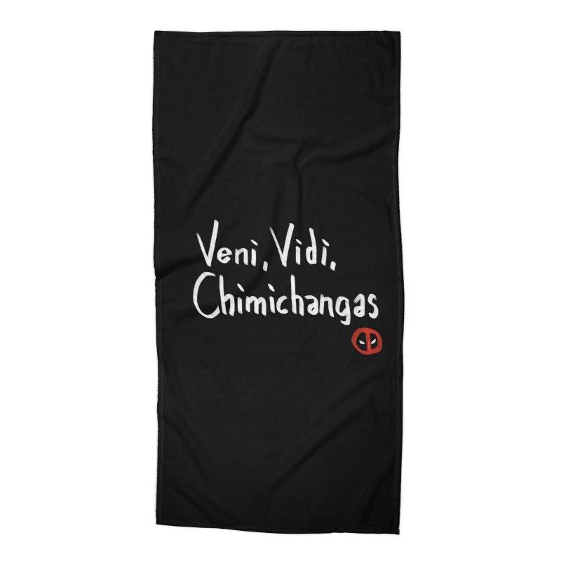 chimichangas Accessories Beach Towel by kharmazero's Artist Shop
