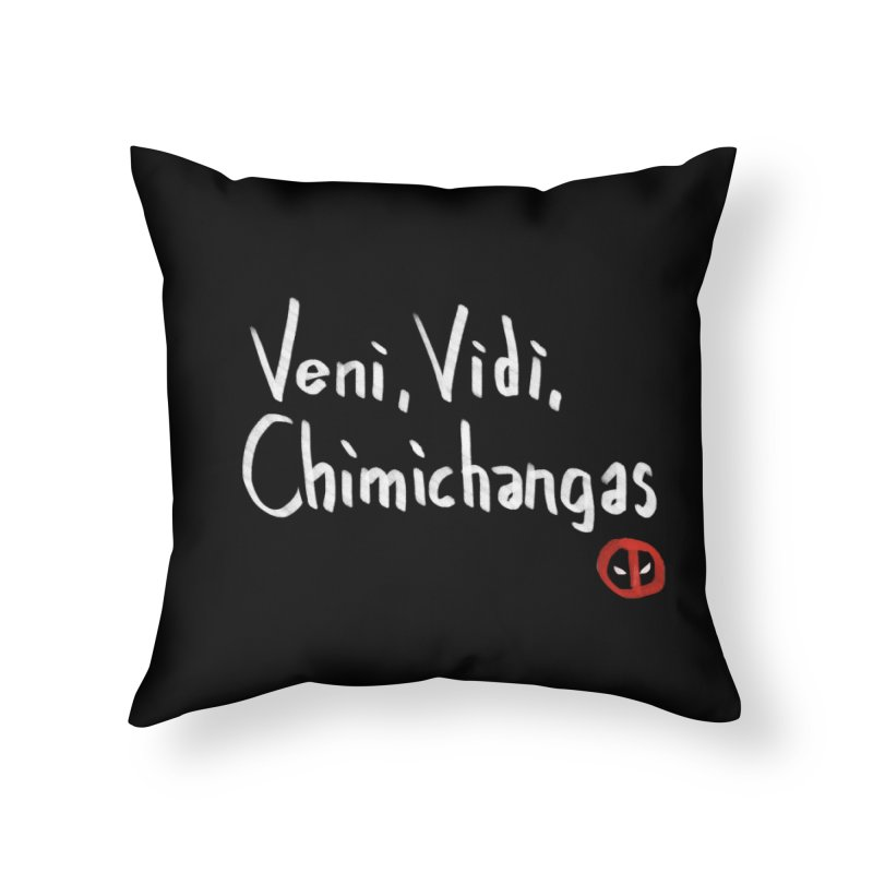 chimichangas Home Throw Pillow by kharmazero's Artist Shop