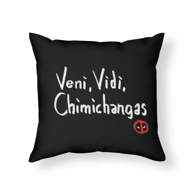 chimichangas Home Throw Pillow by kharmazero's Artist Shop
