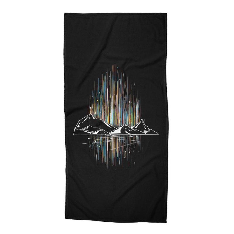 aurora Accessories Beach Towel by kharmazero's Artist Shop