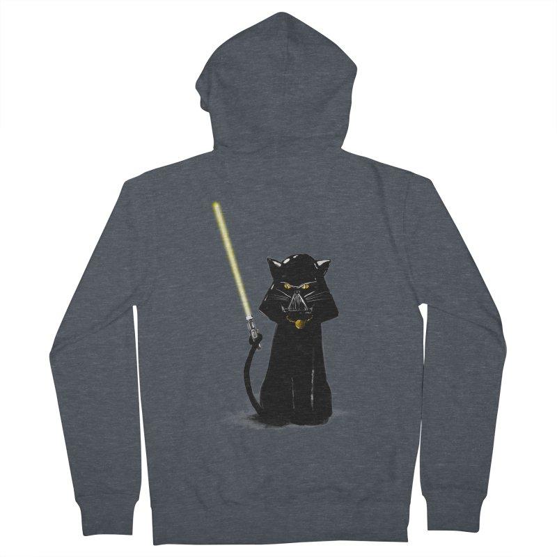 cat vador Men's Zip-Up Hoody by kharmazero's Artist Shop