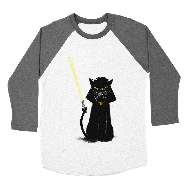 cat vador Women's Baseball Triblend T-Shirt by kharmazero's Artist Shop