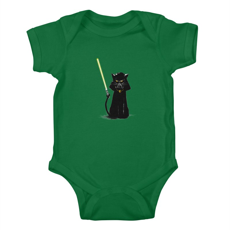 cat vador Kids Baby Bodysuit by kharmazero's Artist Shop