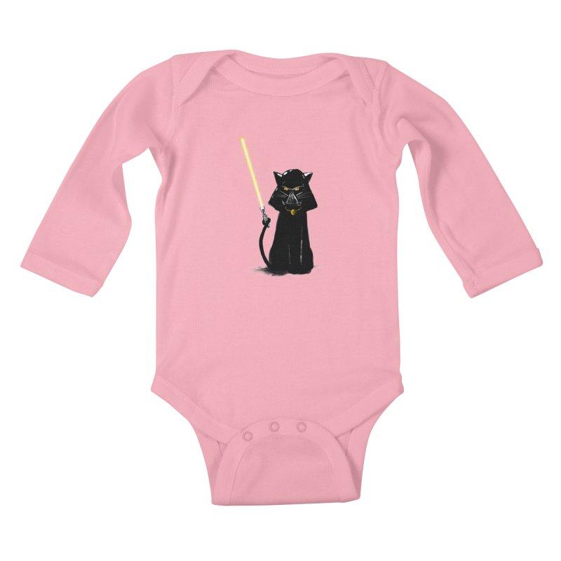 cat vador Kids Baby Longsleeve Bodysuit by kharmazero's Artist Shop