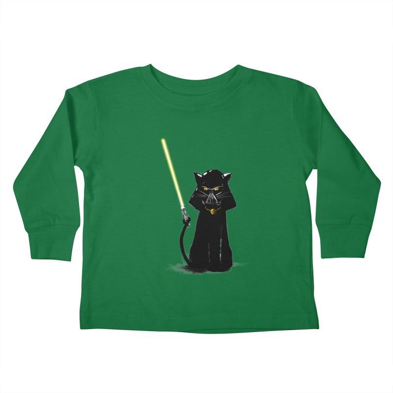 cat vador Kids Toddler Longsleeve T-Shirt by kharmazero's Artist Shop
