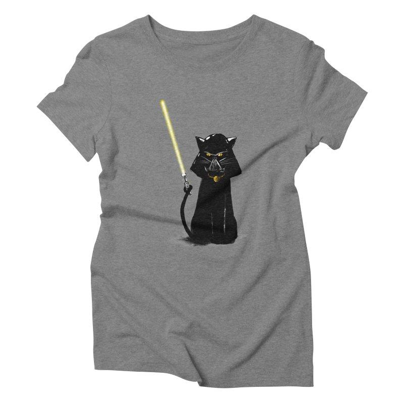 cat vador Women's Triblend T-Shirt by kharmazero's Artist Shop
