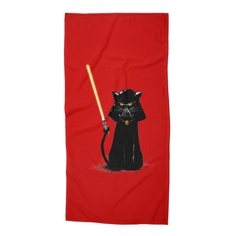cat vador Accessories Beach Towel by kharmazero's Artist Shop