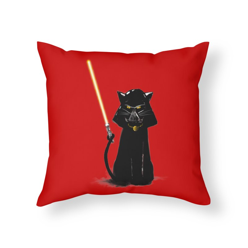 cat vador Home Throw Pillow by kharmazero's Artist Shop