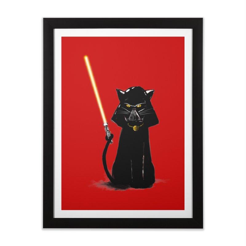 cat vador Home Framed Fine Art Print by kharmazero's Artist Shop