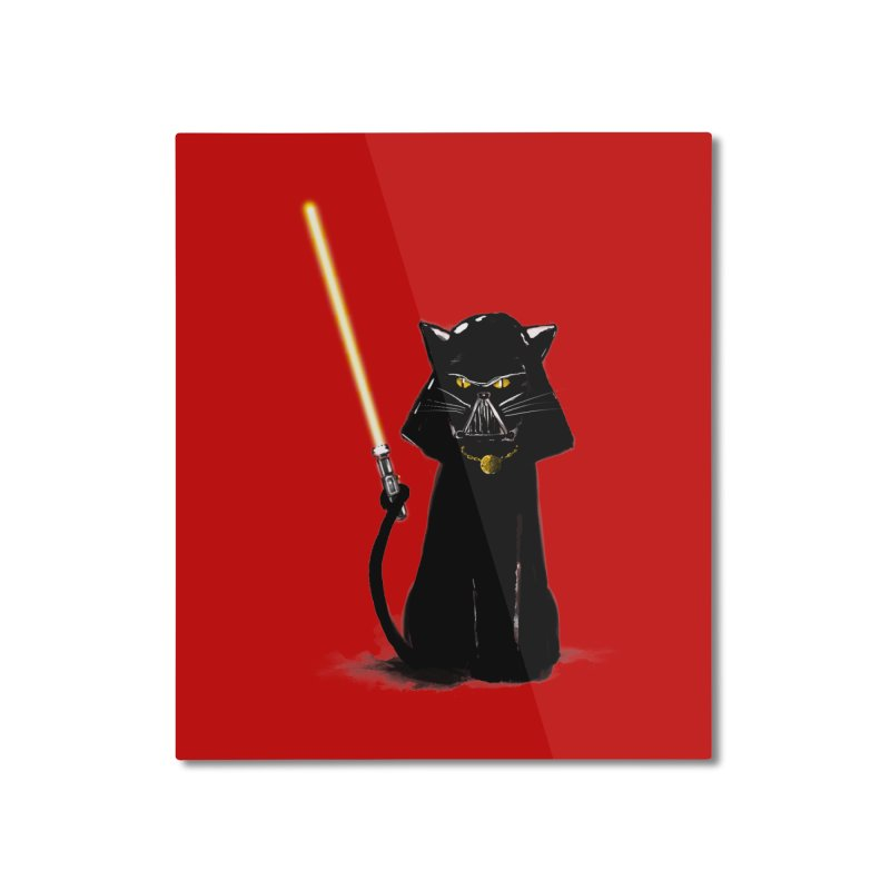 cat vador Home Mounted Aluminum Print by kharmazero's Artist Shop